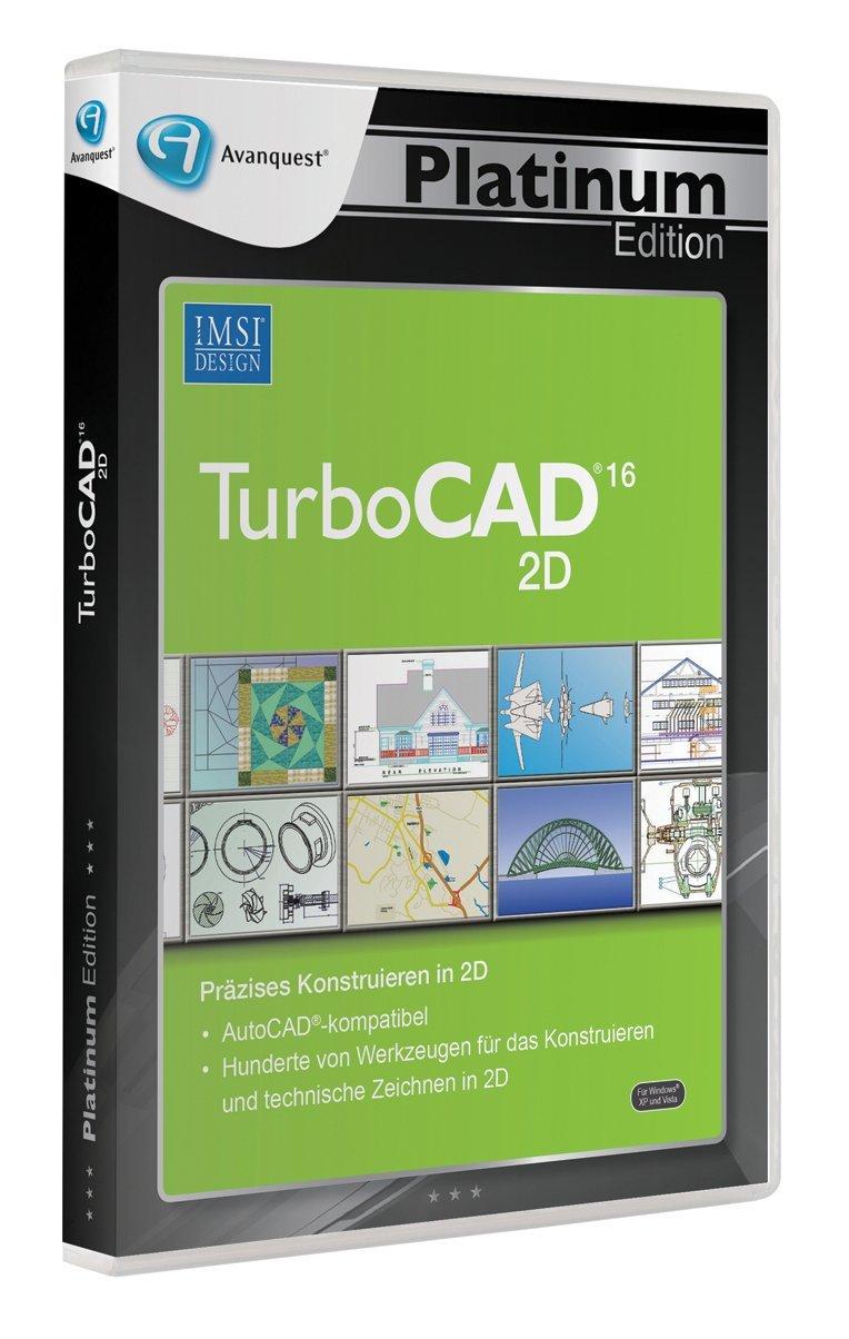 turbocad v16 v 16 2d designer platin edition pc neu ovp ebay. Black Bedroom Furniture Sets. Home Design Ideas